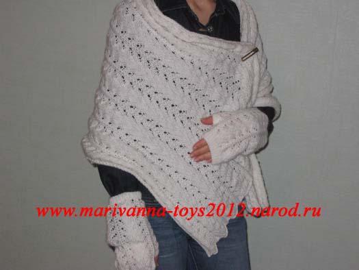 Вязаный свитер с вышивкой
